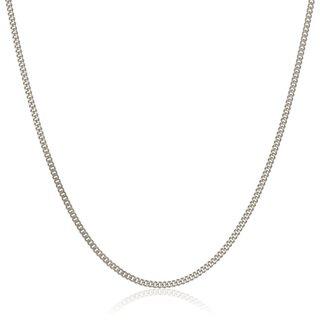 Pori Italian 18k White Gold Cuban Chain Necklace