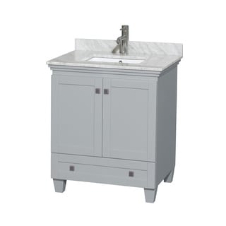 Wyndham Collection Acclaim 30-inch Oyster Grey Single Vanity with Undermount Square Sink