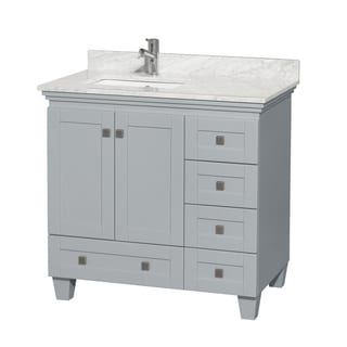 Wyndham Collection Acclaim 36-inch Oyster Grey Single Vanity with Undermount Square Sink