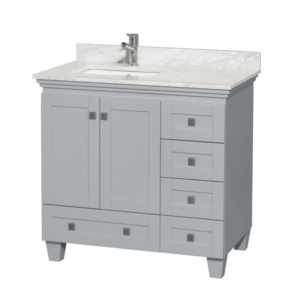 Shop Wyndham Collection Acclaim 36 Inch Oyster Grey Single Vanity With Undermount Square Sink