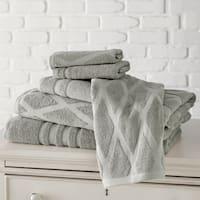 Amraupur Overseas Diamond Jacquard/ Solid 6-piece Towel Set