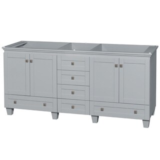 Wyndham Collection Acclaim 72-inch Oyster Grey Double Vanity
