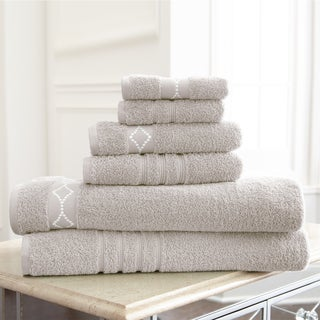 Diamond Embroidery Cotton 6-piece Towel Set