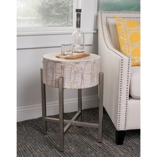 Kosas Home Tory White End Table
