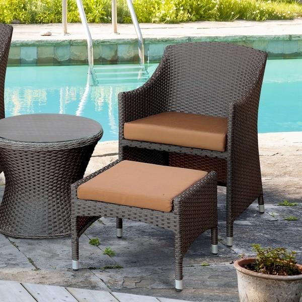 Furniture Of America Olivanne 2 Piece Espresso Wicker
