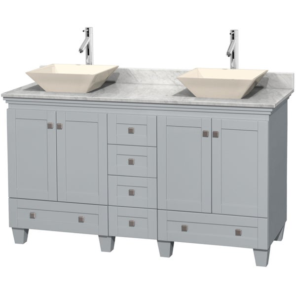 Shop Wyndham Collection 60 Inch Acclaim Oyster Grey Double