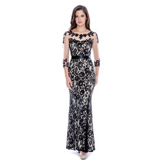 Decode 1.8 Women's Black Lace and Sheer Gown