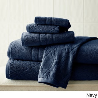 Amrapur Overseas Chain Jacquard 6-piece Combed Cotton Towel Set