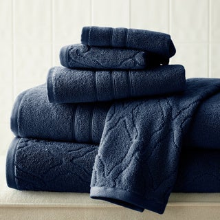 Chain Jacquard 6-piece Combed Cotton Towel Set