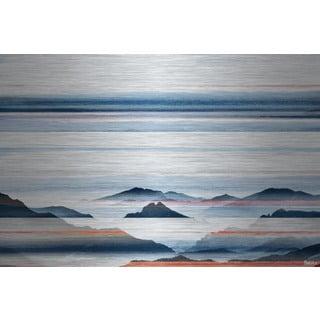 Parvez Taj - Hidden Blue Mountains Painting Print on Brushed Aluminum