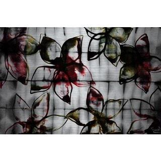 Parvez Taj - Floral Outlines Painting Print on Brushed Aluminum