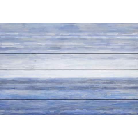Handmade Parvez Taj - The Ocean Print on White Wood