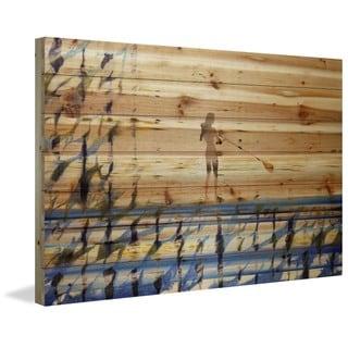 Handmade Parvez Taj - Drifting on the Water Print on Natural Pine Wood