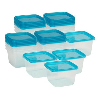 24pc square food storage set