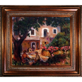 Pierre-Auguste Renoir 'The Farm, 1914' Hand-painted Framed Canvas Art