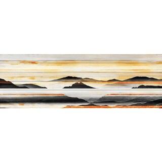 Parvez Taj - Rolling Hills Painting Print on White Wood