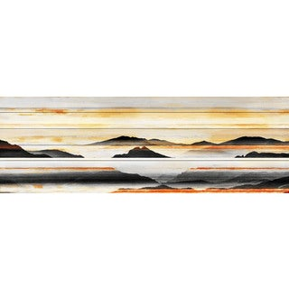 Parvez Taj - Rolling Hills Painting Print on White Wood (2 options available)