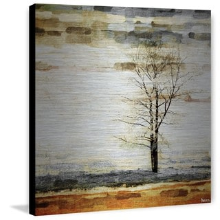 Parvez Taj - Lone Tree Painting Print on Brushed Aluminum