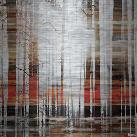 Handmade Parvez Taj - Rays of Light Print on Brushed Aluminum