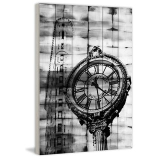 Parvez Taj - Madison Square Painting Print on White Wood (3 options available)