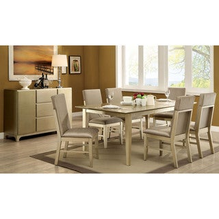 Furniture of America Cherlize Contemporary 7-piece Gold Dining Set