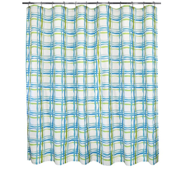 Park B Smith Wavy Plaid Watershed Shower Curtain Free