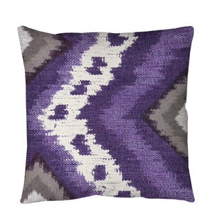 Thumbprintz Tribal Ikat Plum Throw or Floor Pillow
