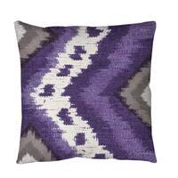 Tribal Ikat Plum Throw or Floor Pillow
