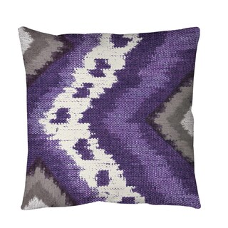 Tribal Ikat Plum Throw or Floor Pillow (3 options available)