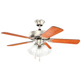 Kichler Basics Premier Revisited Brushed Nickel 42-inch Indoor Ceiling Fan