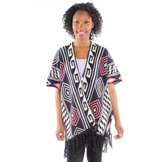 Hadari Women's Fringed Geometric Cardigan