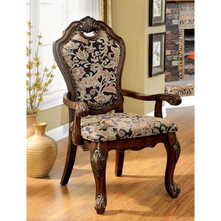 Furniture of America Mallory Formal Cherry Arm Chair (Set of 2)
