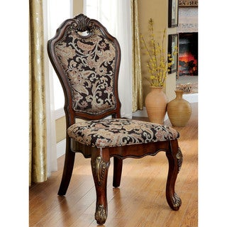 Furniture of America Mallory Formal Cherry Side Chair (Set of 2)