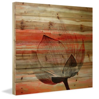 Parvez Taj - Rose Petal Painting Print on Natural Pine Wood