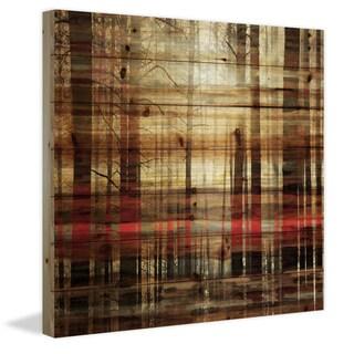 Parvez Taj - Sunlight Through the Trunks Painting Print on Natural Pine Wood