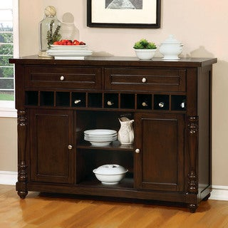 Link to Furniture of America Ketz Transitional Cherry 2-shelf Dining Server Similar Items in Dining Room & Bar Furniture