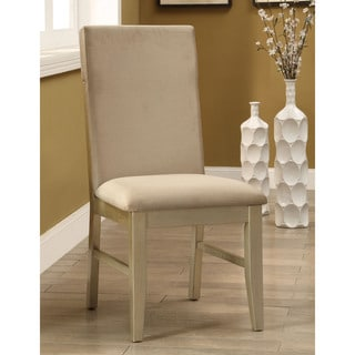 Furniture of America Cherlize Contemporary Gold Dining Chair (Set of 2)