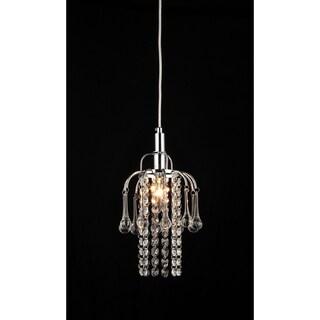 Warehouse of Tiffany Joey 1-light Crystal Chrome Chandelier