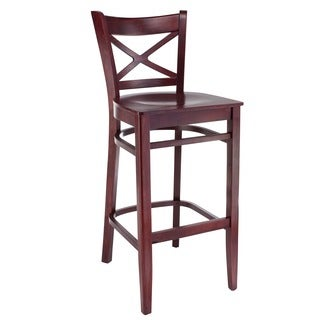 Solid Beechwood Cross-back Barstool