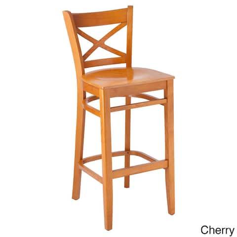 Solid Beechwood Cross-back Barstool