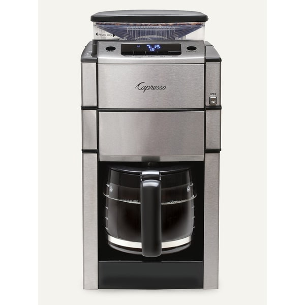 Capresso CoffeeTEAM PRO Plus 12-Cup Glass Carafe Coffee Maker/Grinder Combo - Free Shipping ...