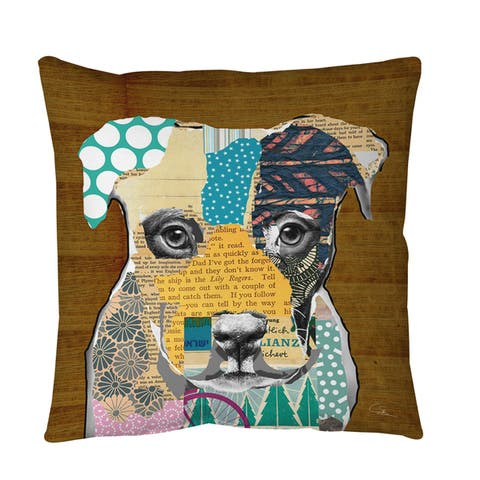 Pattern Collage Pit Throw or Floor Pillow