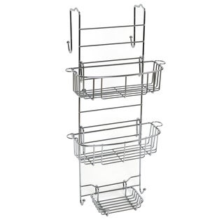 Mainstays Polished Chrome Shower Door Caddy