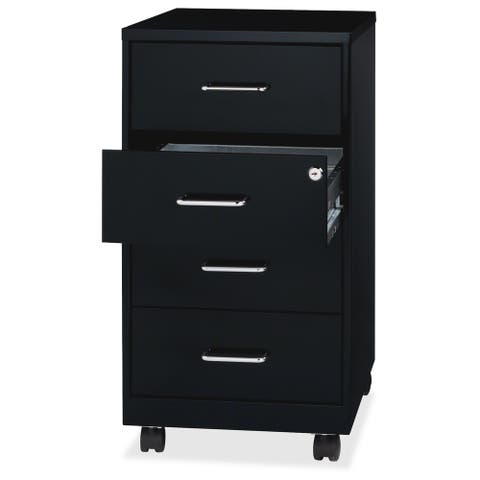 "Lorell 26-1/2"" Mobile Storage Cabinet - (1/Each)"