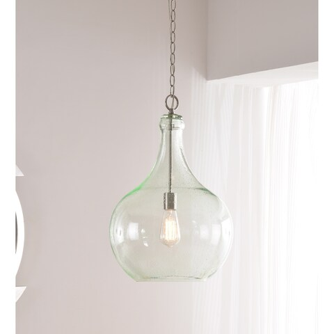Willow Light Green Glass 1 Light Pendant