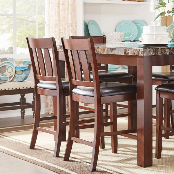The Dining Room Is Back 4 Ways To Revive Your Fabulous: Shop Gabriella New Merlot Finish Counter Height Chair (Set