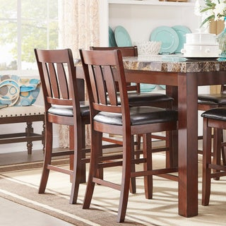 Gabriella New Merlot Finish Counter Height Chair (Set of 2) by iNSPIRE Q Classic