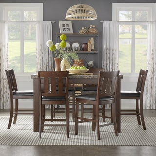 Gabriella New Merlot Finish Counter Height Dining Set by iNSPIRE Q Classic