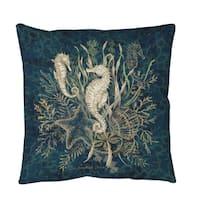 Sea Horse Vignette Throw or Floor Pillow