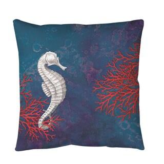 Sea star Bay Seahorse Throw or Floor Pillow